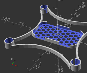 Micro Quadcopter in OpenSCAD