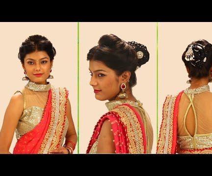 Indian Bridal Hairstyles Step By Step - Simple & Trendy Best Bridal Hairstyles for Wedding Brides