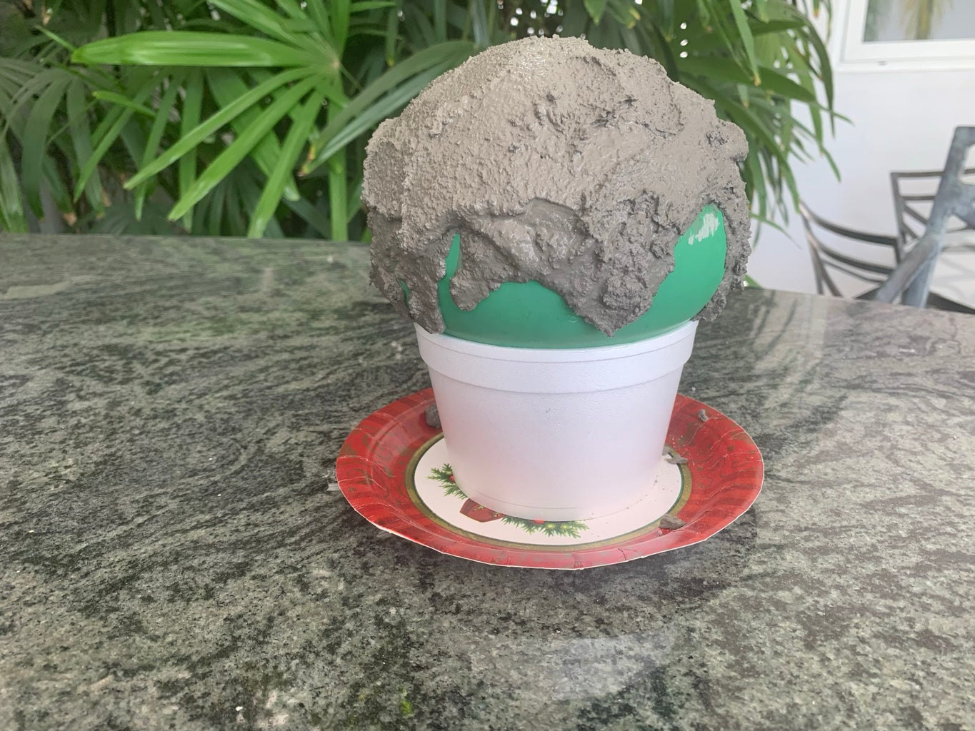 Cover the Balloon in the Cement Mixture