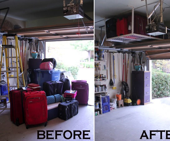 How to enhance the garage space by installing Fleximounts overhead garage racks
