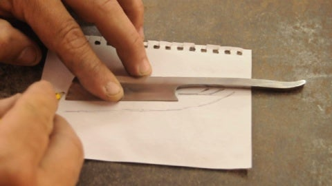 We Put on a Paper the Razorblade, and the We Draw the Blade Draw As Our Convenience. Then We Trim the Paper.