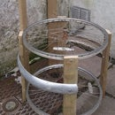 Simple garden chair from old bicycle