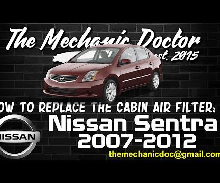 How to replace the cabin air filter : Nissan Sentra 2007-2012.