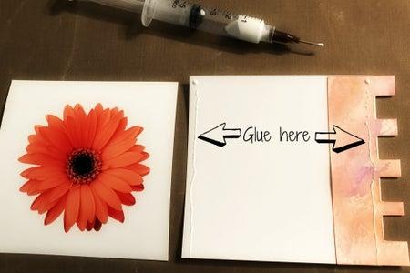 Glue Photos to Tabs