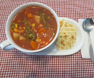 Easy Vegetable Soup Using Only Canned Vegtables and Seasoning