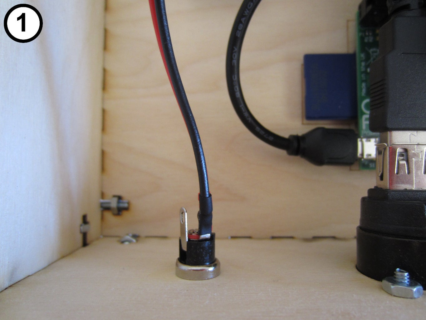 Attach the Lamp Power Port to the Case