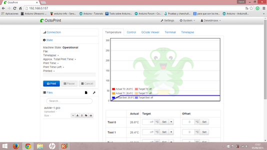 Start and Configure Octoprint