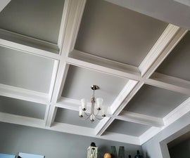 Coffered Ceiling DIY Demo | Finish Carpentry