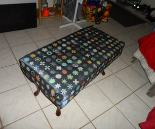 Repurpose an Old Coffee Table to Make an Ottoman
