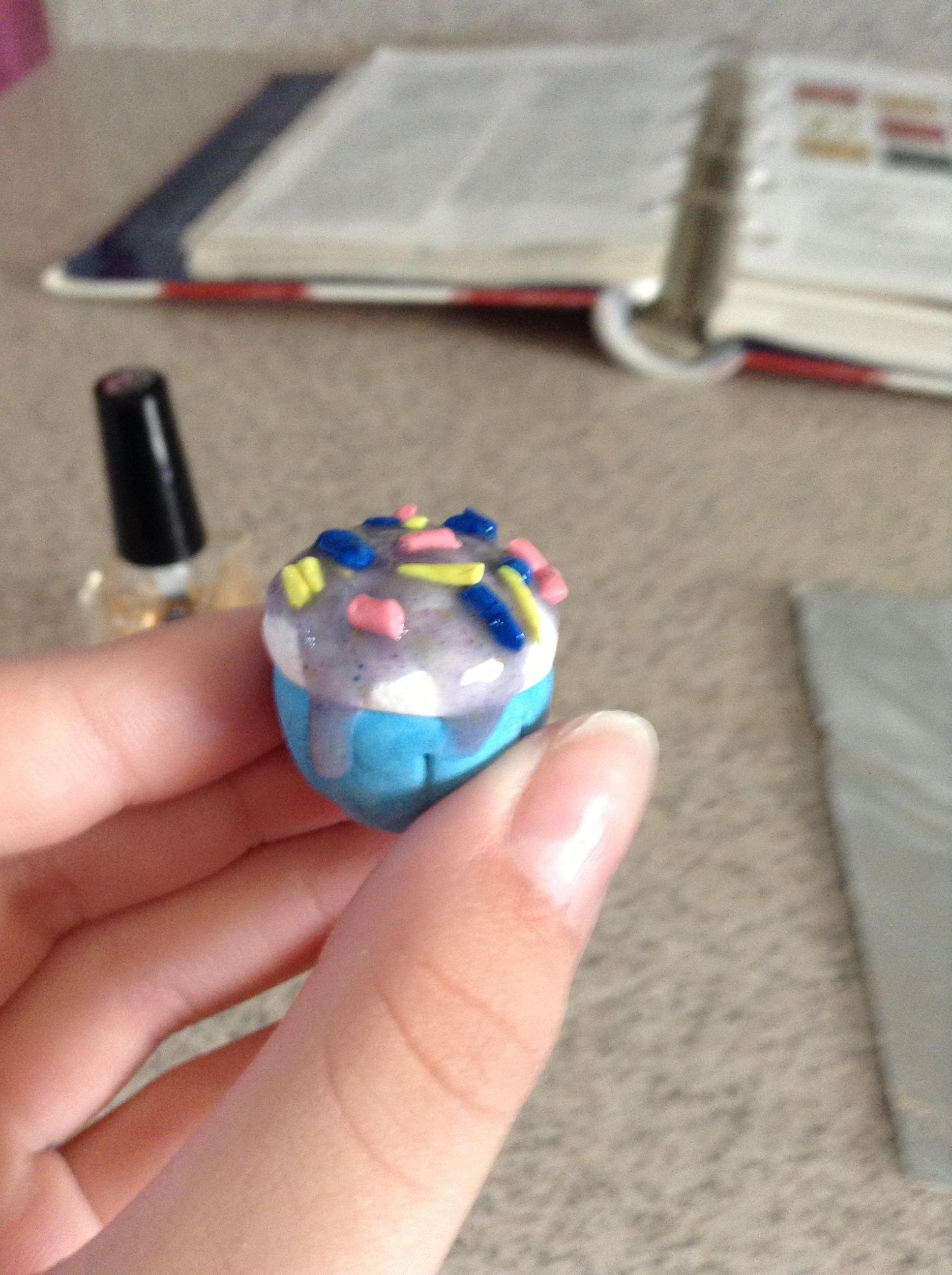 Polymer Clay Cosmic Cupcake