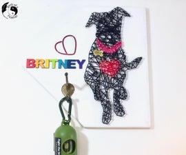 Turn Your Dog Into Wall Art! Leash/Bag Holder