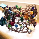Crocheted Wire Seashell Bracelet