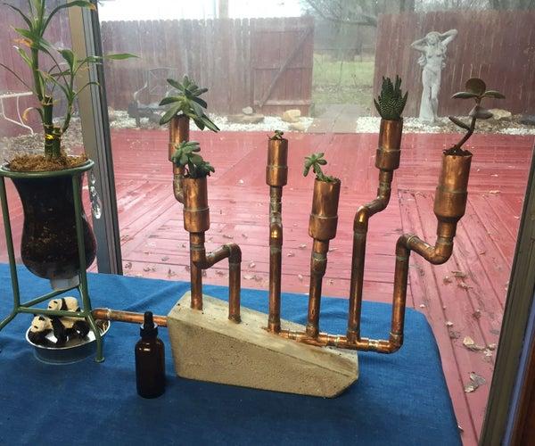 Copper & Concrete Succulent Planter