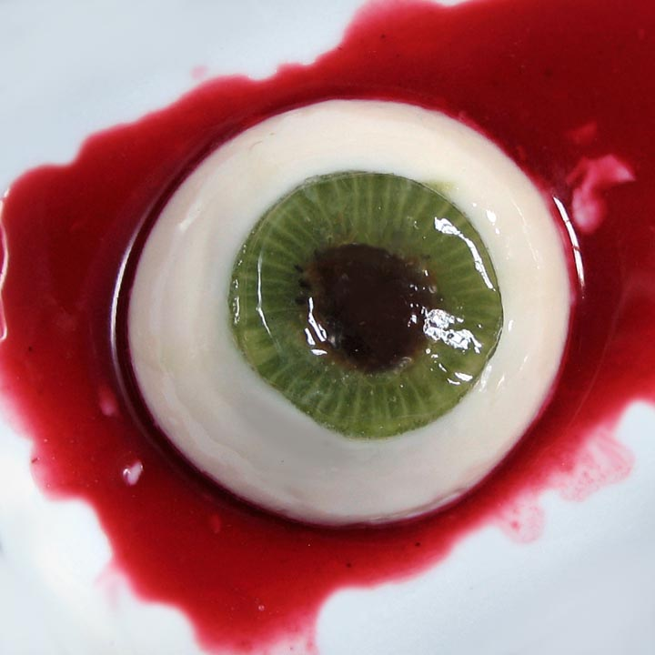 Creepy Coconut Kiwi Panna Cotta