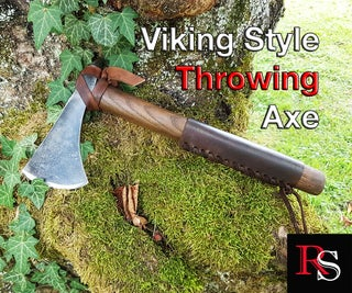 Viking Style Throwing Axe From an Old Woodman's Axe