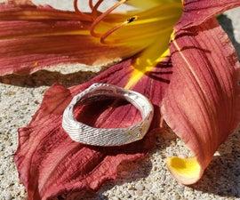 Silver Ring - Cuttlebone Cast