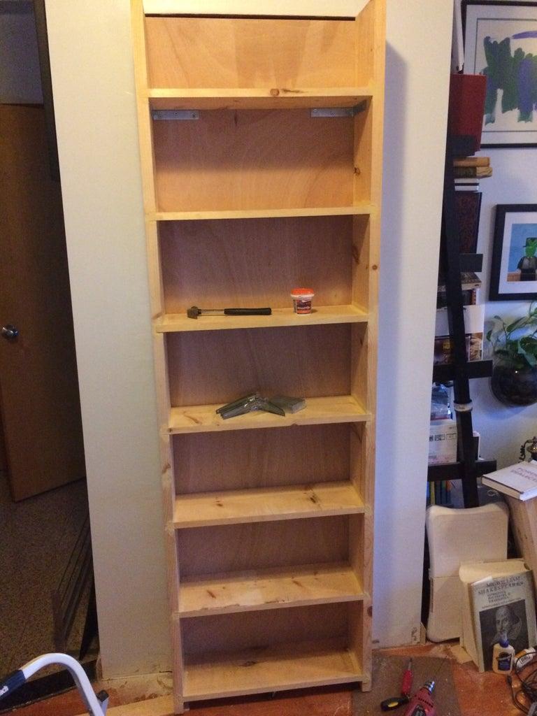 Attach Shelf to the Door & Make It a Little Pretty