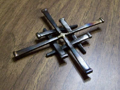 Jerusalem Cross of Welded Concrete Nails