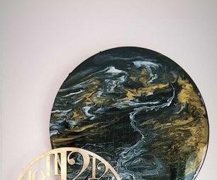 Epoxy Brass Wall Clock