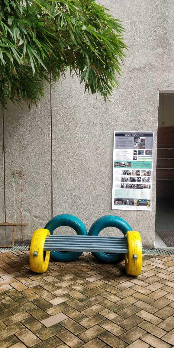 Bench on Wheels
