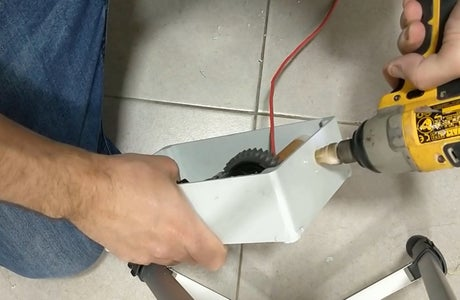 Electronics Mechanism - Making Hole for the Rope
