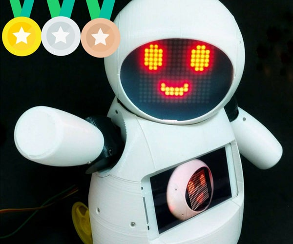 Joy Robot (Robô Da Alegria) - Open Source 3D Printed, Arduino Powered Robot!