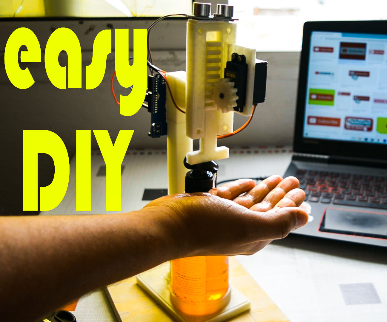 How to Make Automatic Soap Dispenser - 3D Printed !!