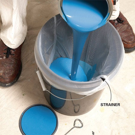How to Strain Paint