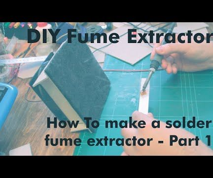 How to Make a Cardboard Solder Fume Extractor