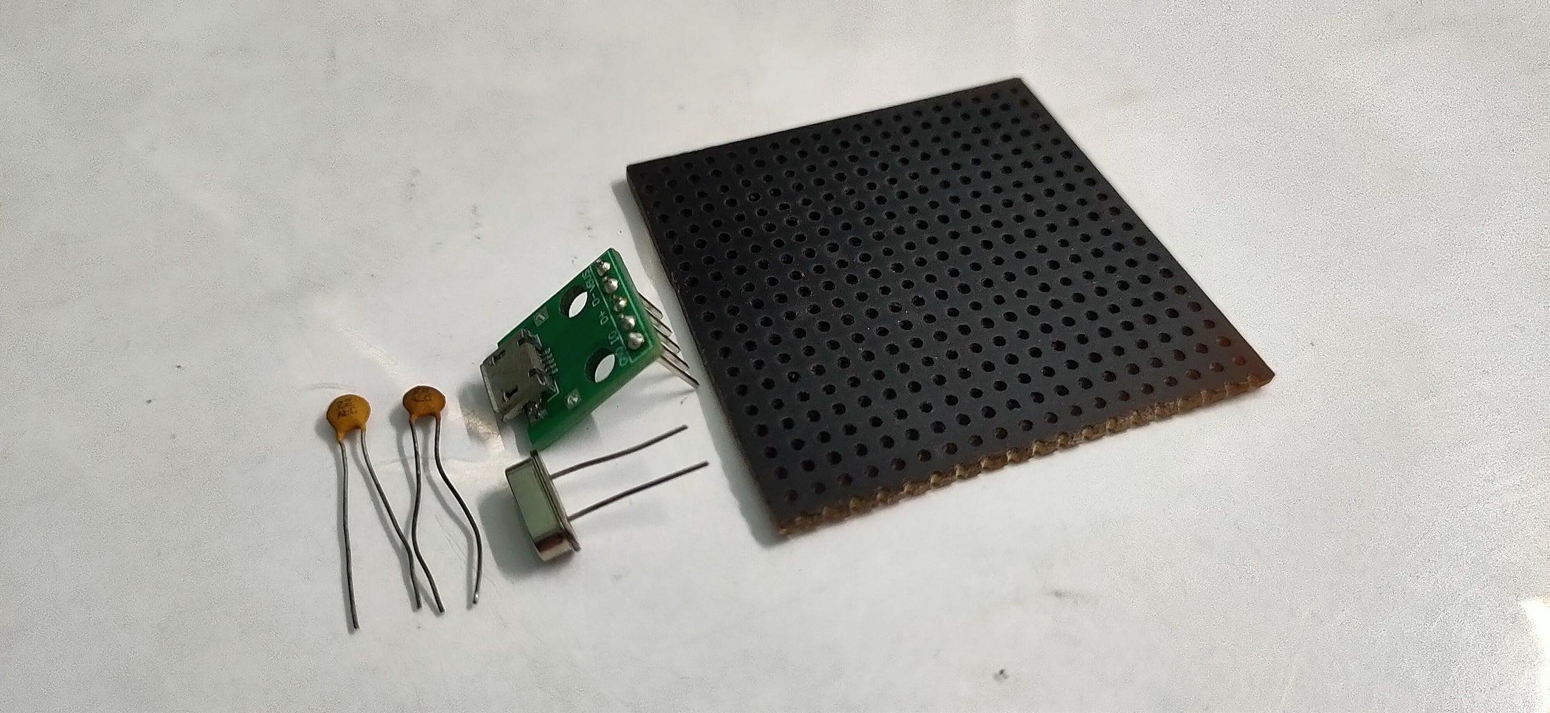 Adding Micro USB Breakout Board and Crystal Oscillator