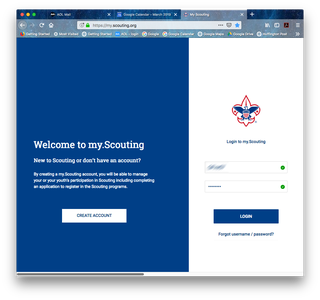 Go to My.Scouting.org