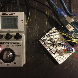 USB Arduino Midi Shield for ZOOM Effects