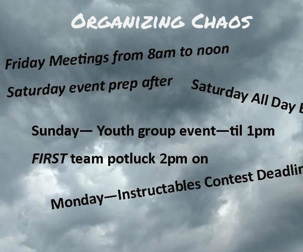 Organizing Chaos: Managing the Perfect Storm of a Busy Calendar