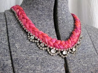 DIY Thread and Jewel Necklace