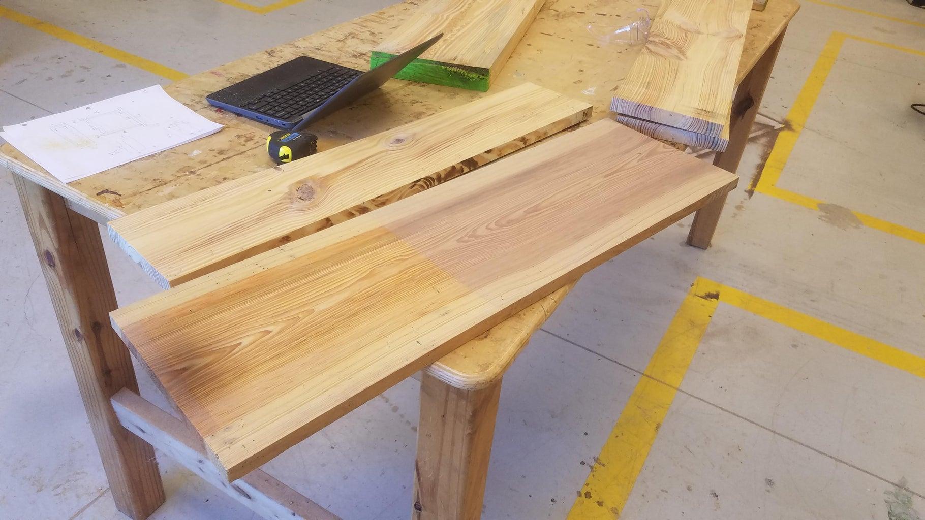 The Tabletop and Bottom Shelf