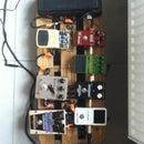 Pedalboard out of wooden beer crate.