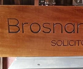 Design, Carve and Finish a Sign