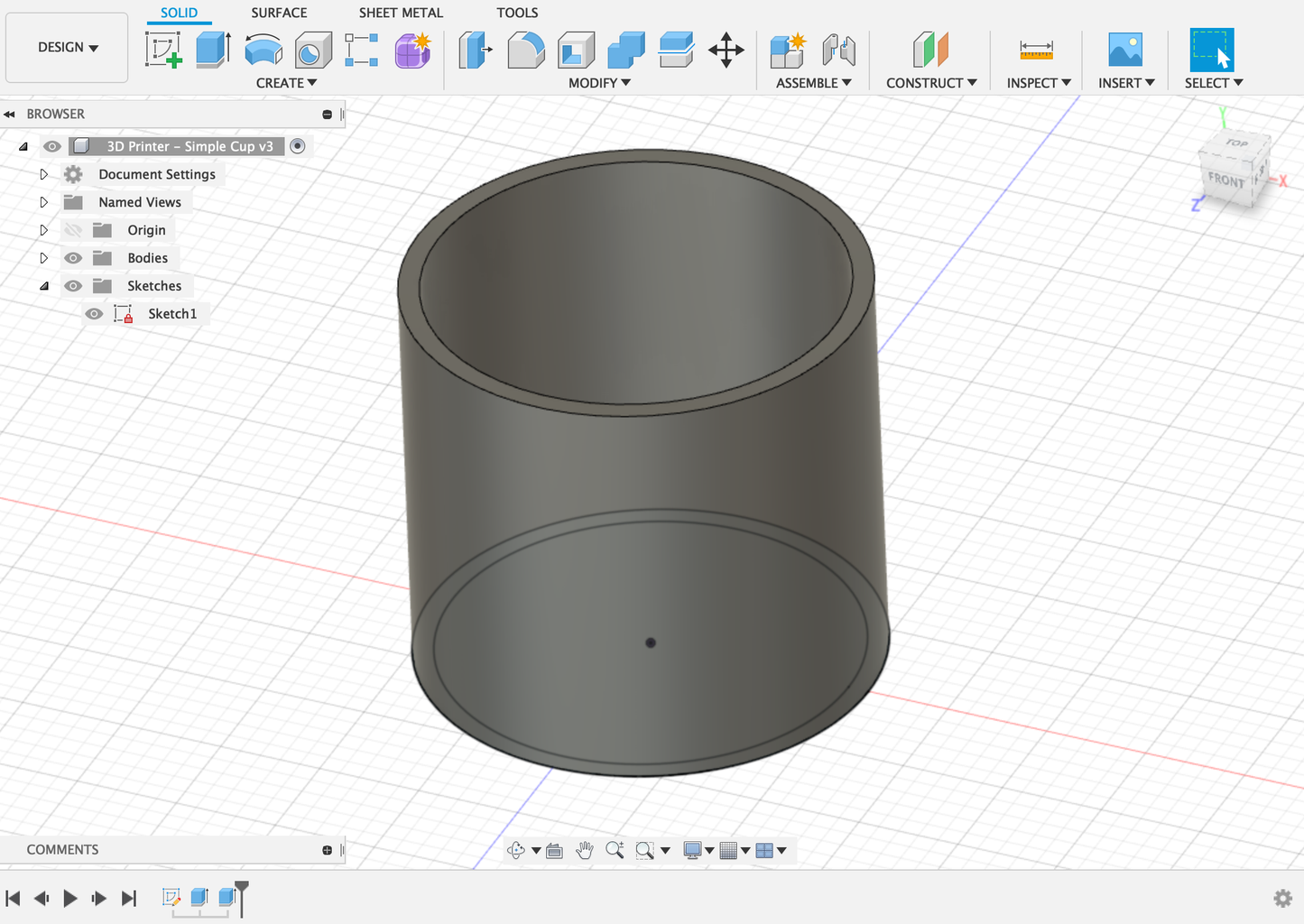 Creating a 3D Design : Extruding Your Object