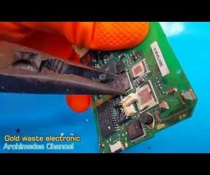 Gold Was Hidden in Waste Electronic Devices