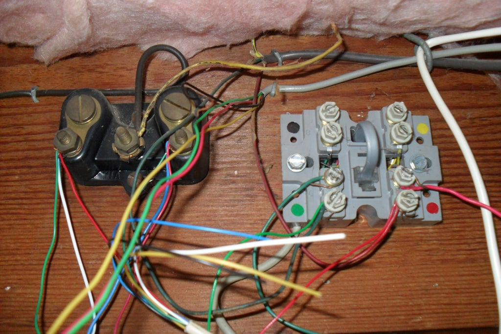 Old Telephone Home Wiring Block, Wiring A Phone Jack