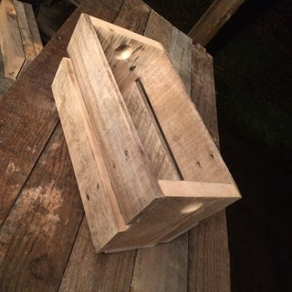 Pallet Wood Gift Basket