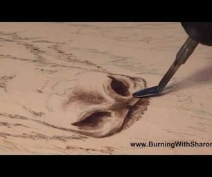 Pyrography: How to Woodburn a Yak or Bison Nose