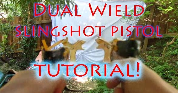 How to Make Dual Wield Slingshot Pistols - the Art of Weapons