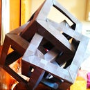 Origami Sculpture Puzzle: 4 Intersecting Cubes