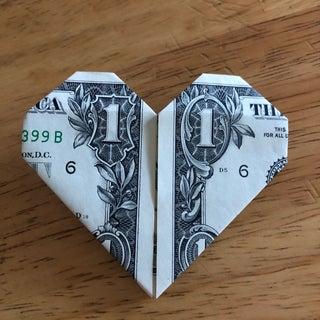 Easy Dollar Bill Origami Heart