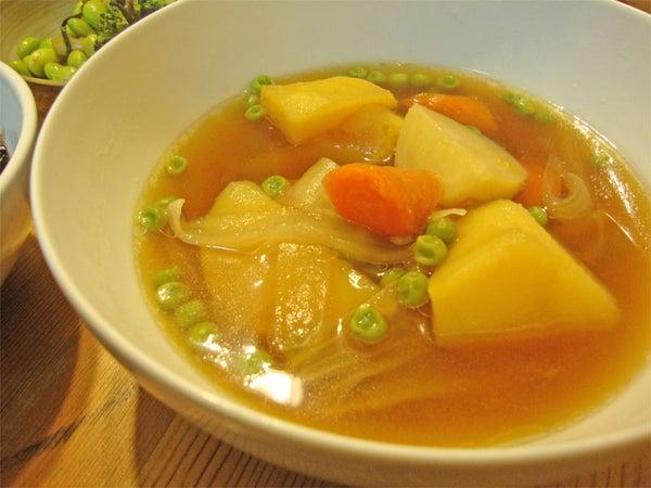 Nikujaga Bacon Potato Soup (Japanese Fusion)