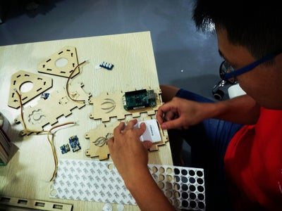 Install the Electronic Modules on the Board