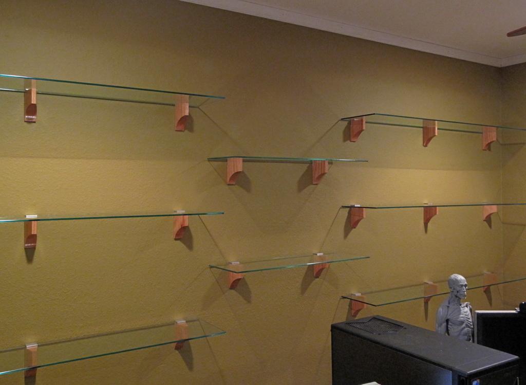 Cantilever Glass Shelving