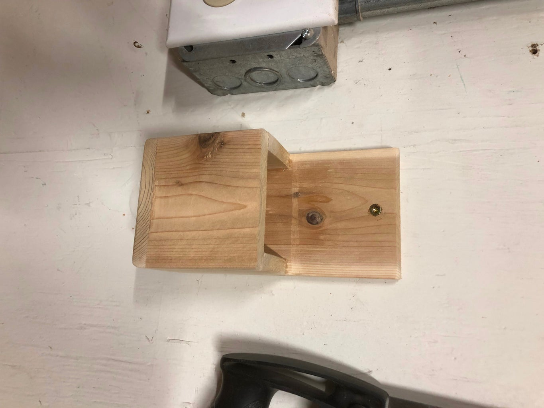 Simple Scrap Wood Hanging Pencil Holder
