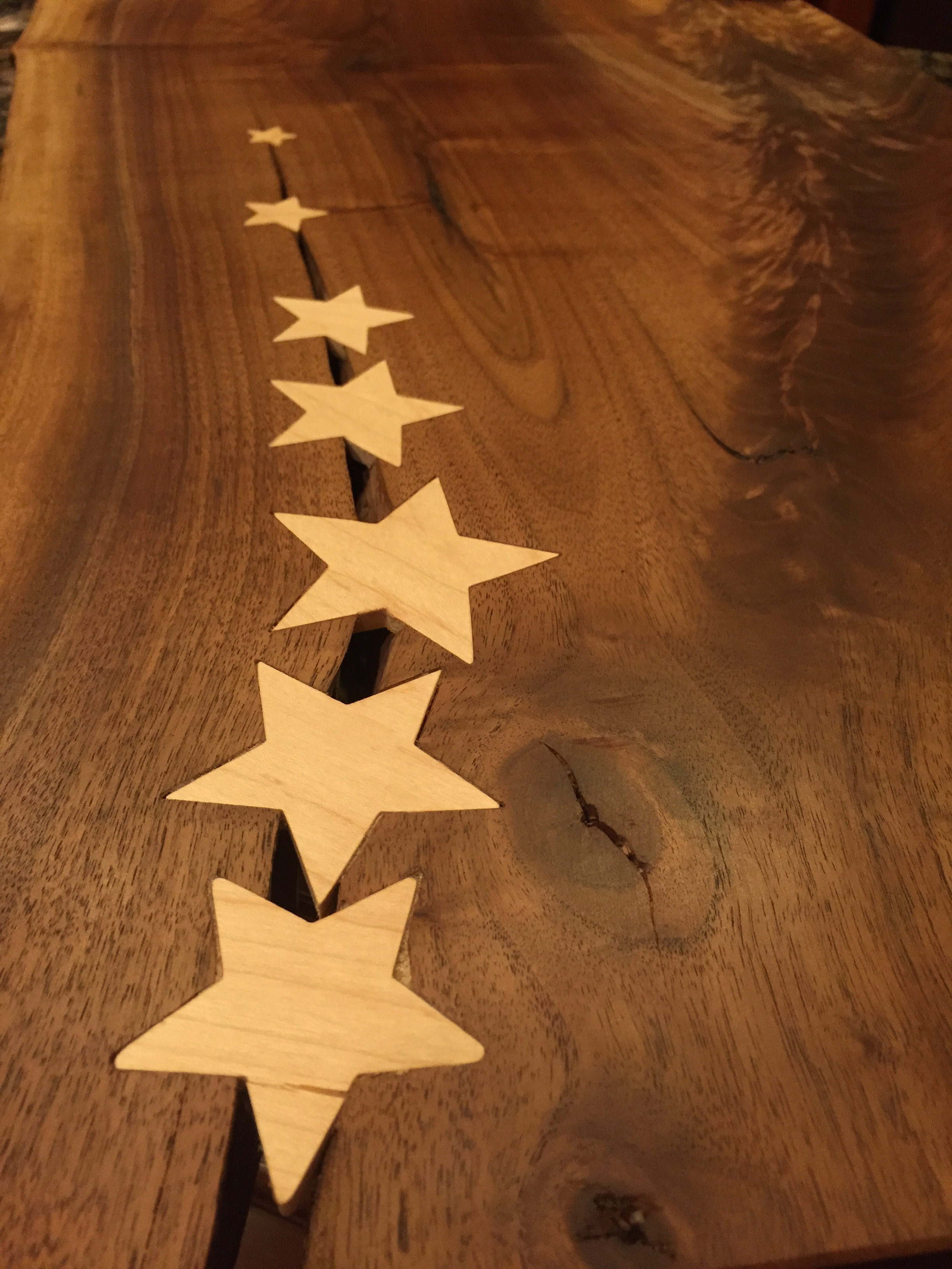 CNC Inlay Star Keys